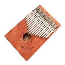 27251f77e 17 teclas Kalimba africana de caoba maciza pulgar dedo Piano de madera  Kalimba portátil instrumento Musical