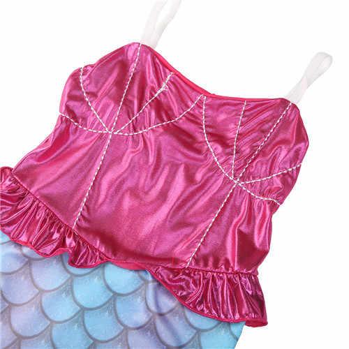 От 4 до 12 лет для маленьких детей; нарядный купальник бикини с хвостом русалки; купальный костюм; пляжная одежда; костюм; Одежда для девочек
