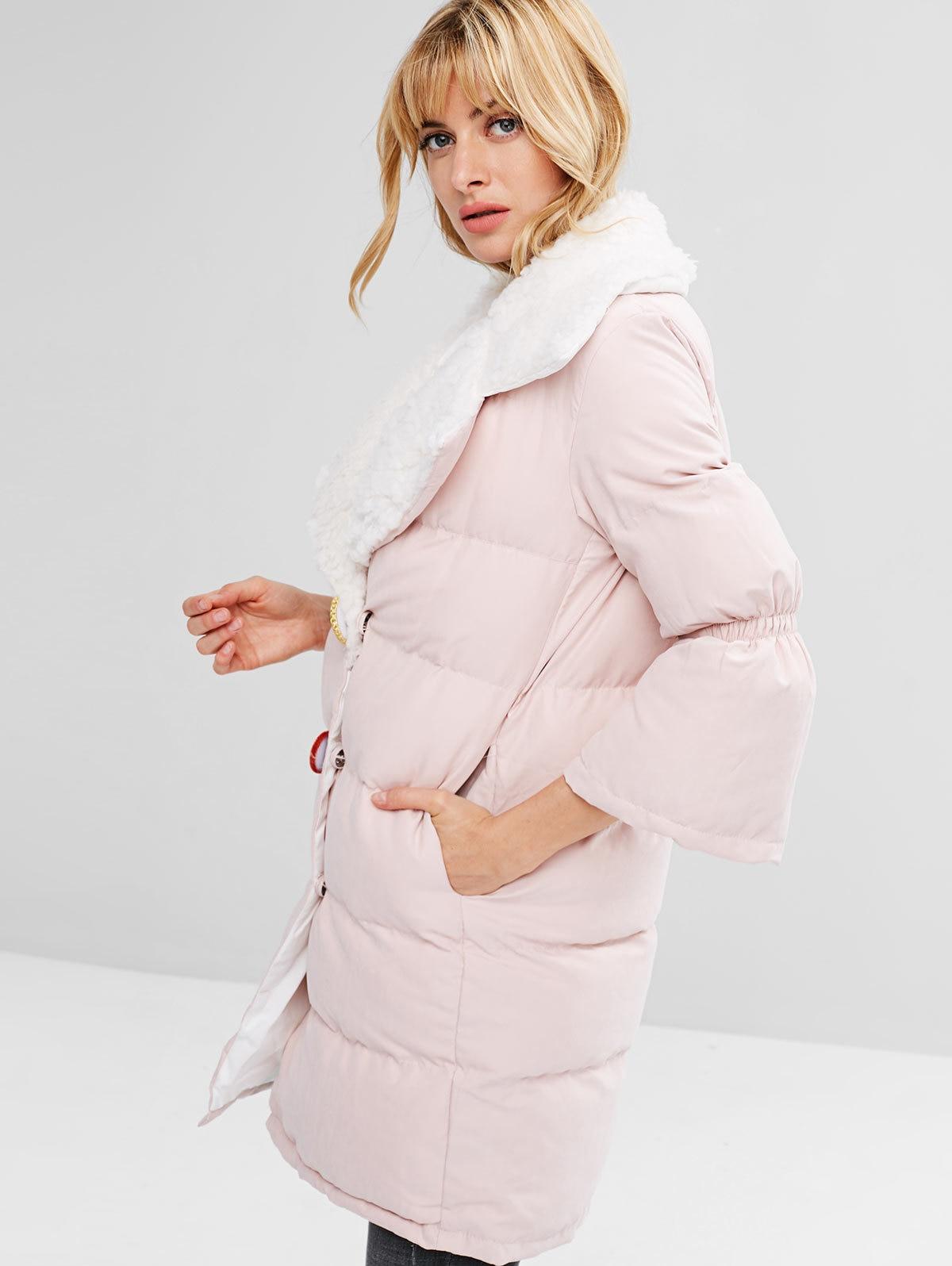 Pardessus Sakura Rose Parka Pink Bouton Hiver Mince Manteaux Pression Casual Plaine Femmes Chaud Veste Femme Automne Matelassé Manteau Épaisse anqBw