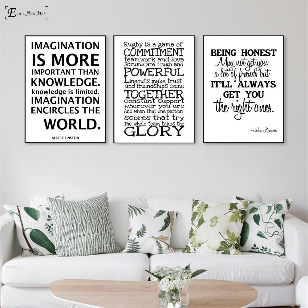 Us 4 58 51 Off Motivational Words Simple Decoration Poster Wall Paint Living Room Abstract Canvas Art Pictures For Home Decor No Frame In Painting