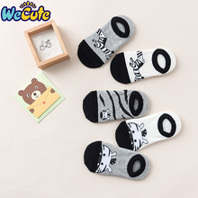 Wecute 5Pairs/lot Kawaii Animal Print Socks Cartoon Cotton Newborn Baby Boys Girls Soft Cute Fashion Spring Autumn