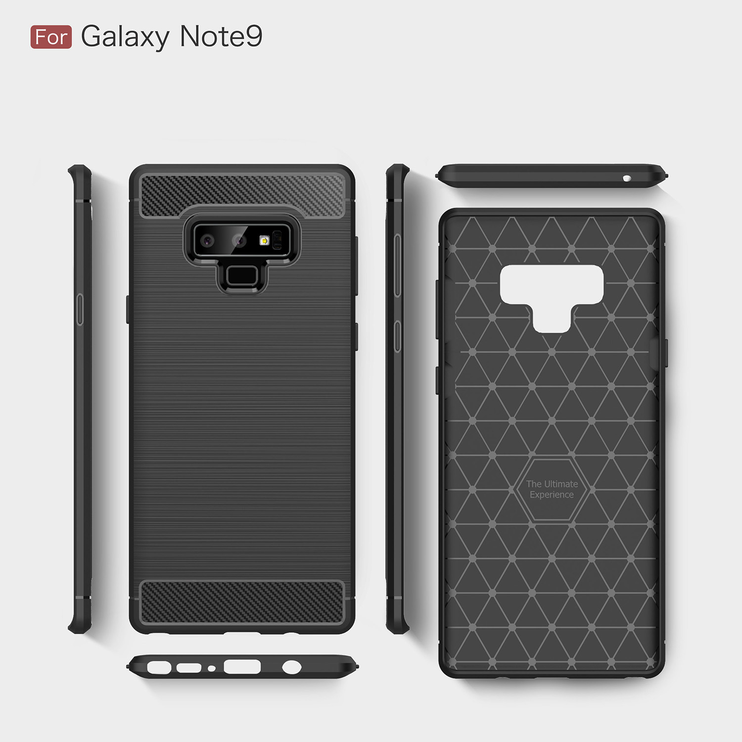 Business Carbon Fiber Case For Samsung Galaxy S10 Lite/Plus A8S A750 S9 S8 A9S A6 J4 J6 Plus J8 2018 Note9 8 Soft Silicone Cover