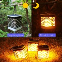 75PCS 2835 LED Wall Light Outdoor Decorative Waterproof lawn garden flame solar candle lights for Yard Porch Corridor Balcony