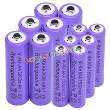 6x AA 3000 мАч + 6x AAA 1800 мАч 1,2 в Ni-MH аккумуляторная батарея 2A 3A фиолетовый Сотовый