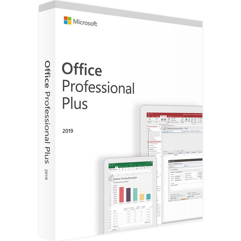 Microsoft Office 2019 Professional Plus License |1 Device, Windows 10 PC Product Key Card(China)