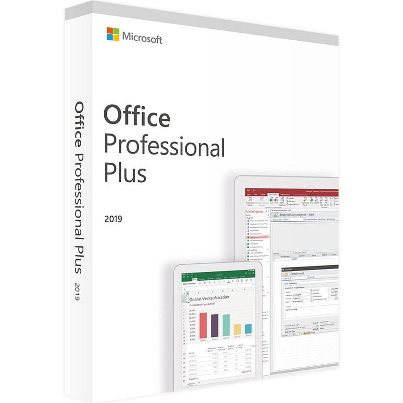 Microsoft Office 2019 Professional Plus License |1 Device, Windows 10 PC Product Key Card