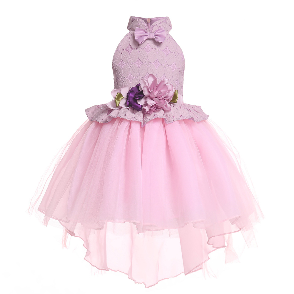 2019 Kids   Girl   Wedding   Flower     Girls     Dress   Princess Party Pageant Formal   Dress   Prom Little Baby   Girl   Birthday   Dress