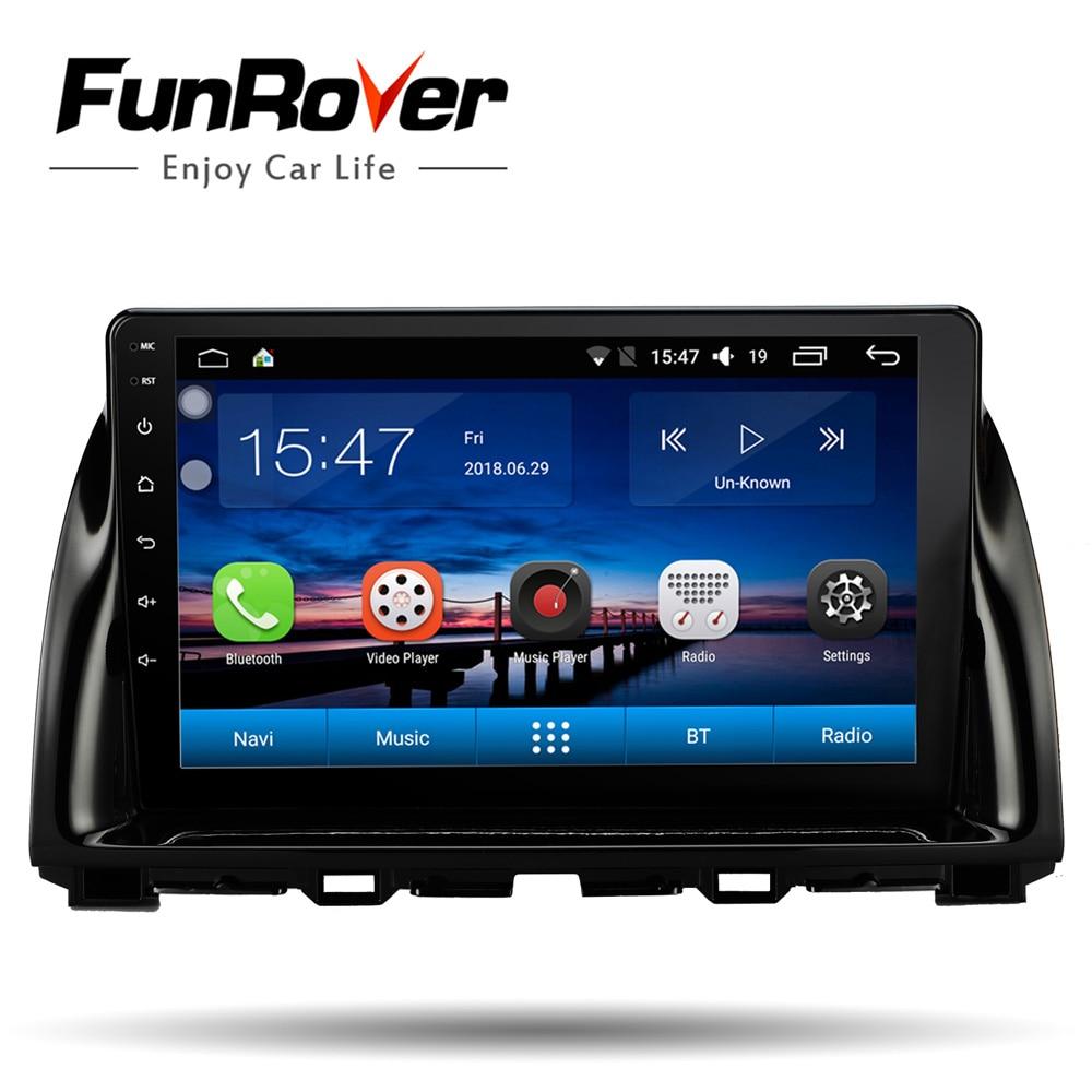 Funrover 2 din android 8.0 car dvd For Mazda CX5 CX 5 CX 5 2013 2016 car radio multimedia player stereo vedio gps navigation fm