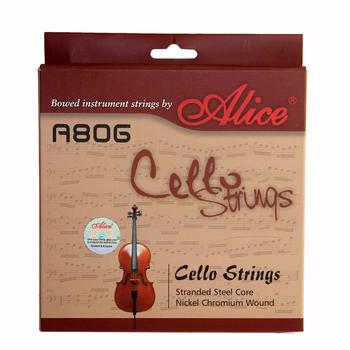 Alice A806 struny wiolonczelowe akcesoria skrzypcowe nikiel ni-fe chrom rany stalowy rdzeń niklowany 4 4 tanie i dobre opinie Inne