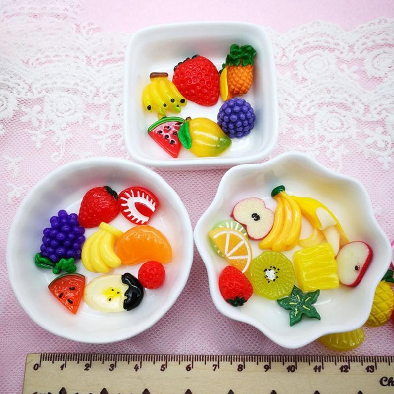 Model Building Kits 30 Pieces Slime Charms Mixed Fruit Series Beads Slime Bead Making Supplies For Diy Collage Crafts Fruit Beads Mucus Beads Diy