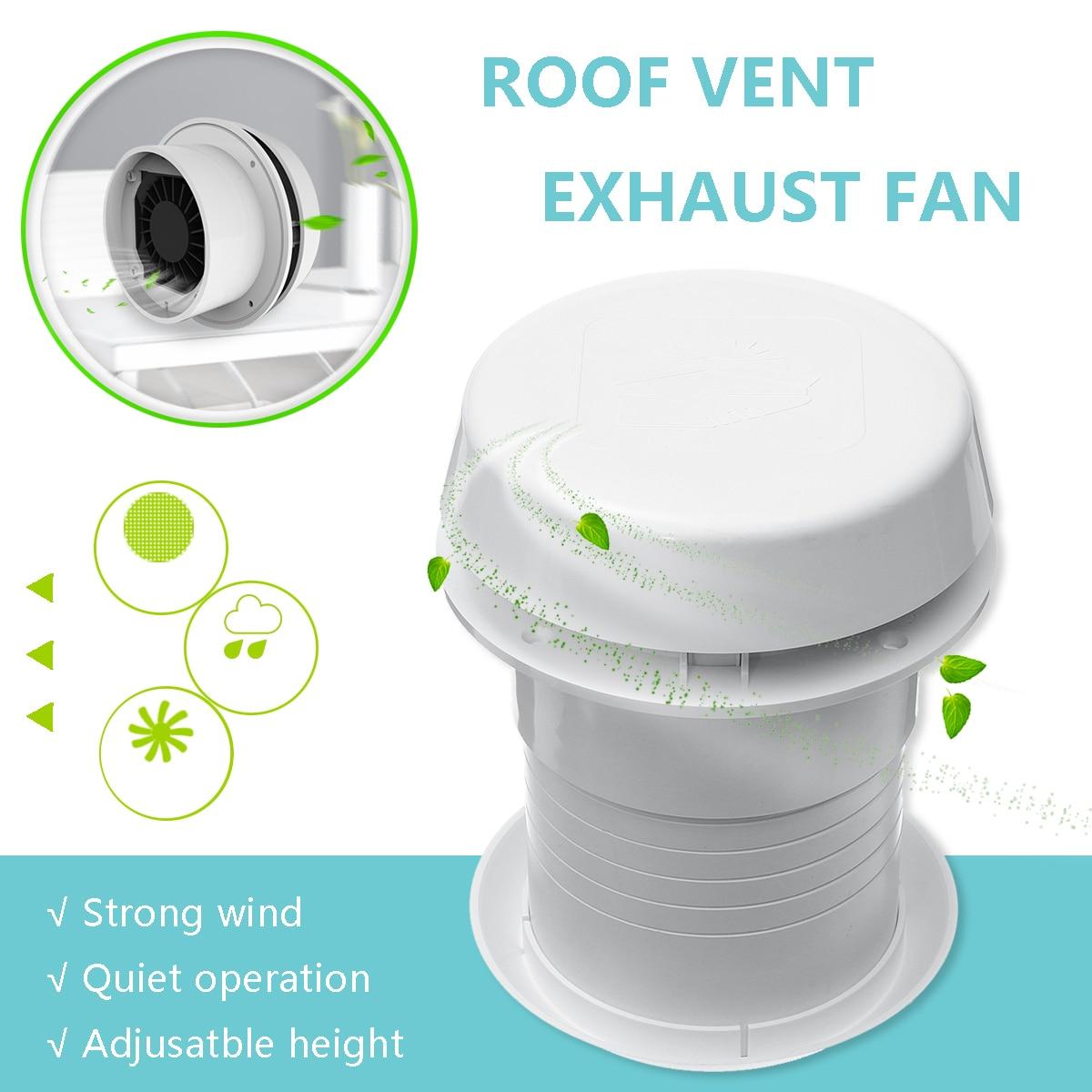 1 pièces 12 V RV économie d'énergie camping-car toit évent Ventilation refroidissement ventilateur d'échappement silencieux pour camping-cars de voyage remorque