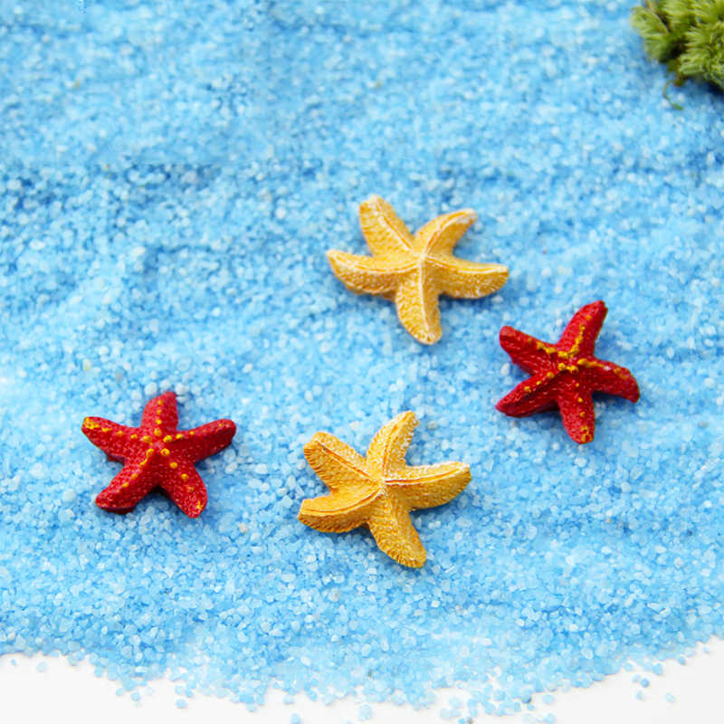 Bonsai DIY 2Colors Starfish Mediterranean Style Creative Terrarium Ornament Microlandscape Figurine 1PC MINI Garden Decoration