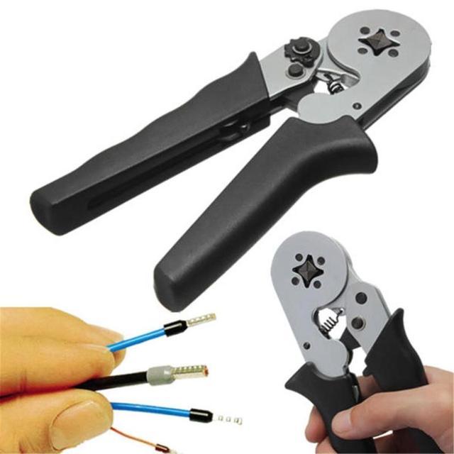 Terminal Crimper samonastawny AWG24 10 szczypce zaciskowe wielofunkcyjny przewód zasilający narzędzie do zaciskania końcówek czarne narzędzia ręczne