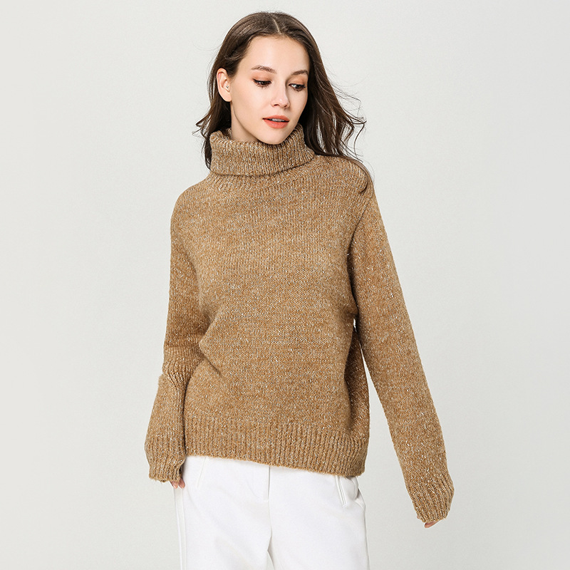 Turtlrneck sweater feminino winter and spring thick 2019 knitted womens loose pullover damen 1891
