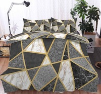 ins 3D geometry Bedding Duvet Cover Set Pillowcase Microfiber Soft Comforter Bedroom Single Queen King factory custom