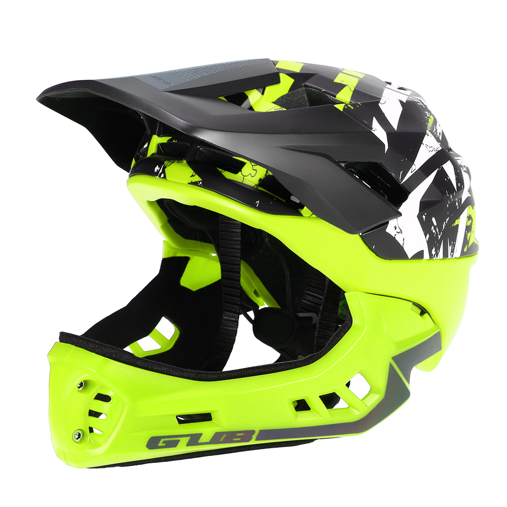 GUB Bike Detachable Full Face Helmet for Child Cycling Skating Skiing Reflective Safety Helmet with Visor and Warning Light-in Bicycle Helmet from Sports & Entertainment    1