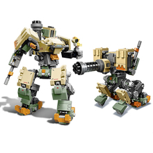 IN Stock 2019 Compatible with legoingery Overwatching 75974 Games Bastion Mecha Set Building Blocks Bricks Toys for Kid Gift lepin 50003 overwatching games compatible legoing 75972 dorado showdown set building blocks bricks educational toys christmas