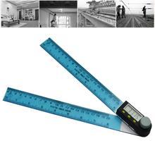 Цифровой угломер и уровень гониометра измерительный инструмент электронный угломер из нержавеющей стали угловая линейка 200 мм