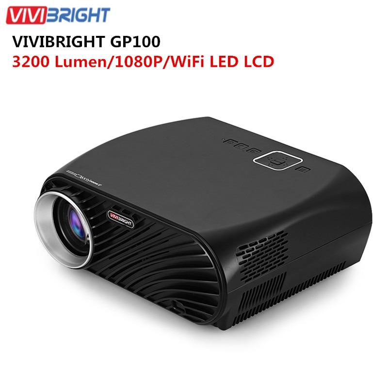 3200lumens Hd Home Cinema Theater Multimedia 3d 1080p Led: VIVIBRIGHT GP100 Projector Full HD 3200 Lumen 1080P WiFi