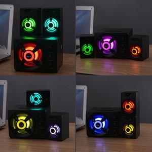 Image 5 - SADA D 208 3 en 1 définit Adio Bluetooth 2.1 canaux basse lumière LED ordinateur haut parleur Support TF u disk