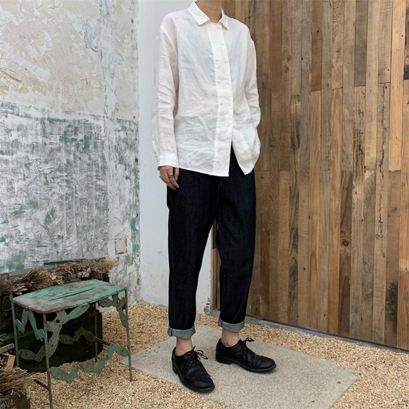 Elastique 2019 Foncé D'été Nouveau Pantalon Denim Mode Blue Haute Sarouel Pli Printemps Marée De Taille Femmes Bleu Navy Q170 Lâche r0XgrR