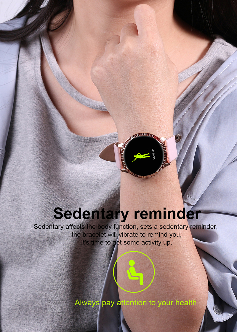 Women Smart Watch IP68 Waterproof Fitness Tracker Smart Band Blood Pressure Dynamic Heart Rate Monitor Smart Bracelet Smartband in Smart Wristbands from Consumer Electronics