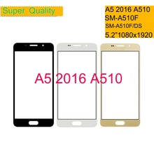 50Pcs/lot For Samsung Galaxy A5 2016 A510 SM-A510F A510F Touch Screen Front Glass Panel TouchScreen Outer Glass Lens NO LCD