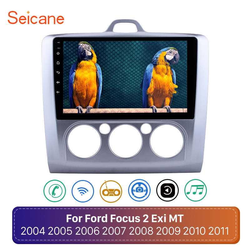 Seicane 2din Android 8.1 Car Radio <font><b>For</b></font> <font><b>ford</b></font> <font><b>focus</b></font> EXI MT 2 3 2004 2005 <font><b>2006</b></font> 2007 2008 2009 2010-2012 2Din <font><b>GPS</b></font> Multimedia Player image