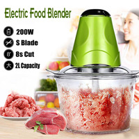 2L Electric Kitchen Meat Grinder Chopper Cocina Shredder Food Chopper Stainless Steel Electric Household Processor Kitchen Tools