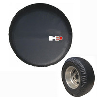 Leather Spare Wheel Tire Tyre Soft Cover For Hummer H3 Logo Black Heavy Duty Vinyl New