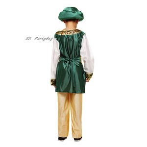 Image 4 - Bambini Ragazzi Arabo Principe Cosplay Ragazzo Aladdin Principe costume di halloween per i bambini di Carnevale Festa di Compleanno Di Natale