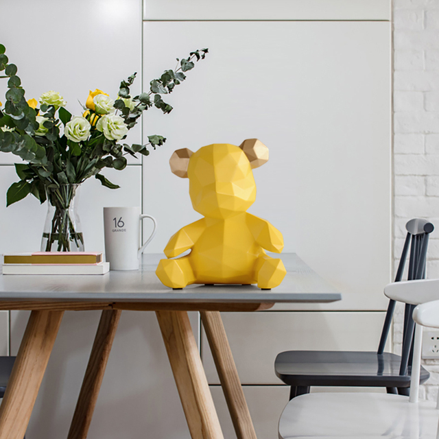resin home decor sculpture bear Figurine  decoration bear ornament in home office garden children x'mas gift resin animal statue 4