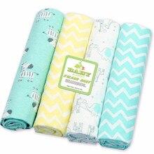 Кровать для новорожденных простыня постельных принадлежностей 4 шт./партия 76x76 см для новорожденных Матрасы для детской кроватки Детская кроватка льняная хлопковая фланелевая Печать детское одеяло