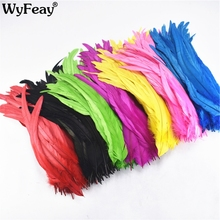 Wholesale 100PCS 30-35CM Natural Rooster tail Feathers Colorful Cheap Feather For Decoration Craft Christma Diy Pheasant Feather