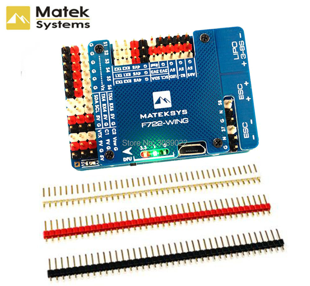 Original Matek Systems F722 WING Flight Controller STM32F722RET6 3 6S Flight Controller Built in OSD for