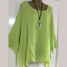 Casual Crew Neck Women's Blouse Batwing Sleeve Loose Ladies Top Shirts Spring Summer Womens Tops And Blouses Plus Size Tunic
