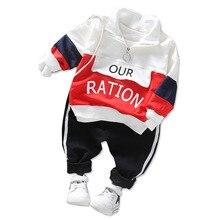 Spring Autumn Baby Boy Girl Clothing Children Fashion Clothes Kid Cotton Leisure Sport T-shirt Pants 2 Pcs/Set Toddler Tracksuit