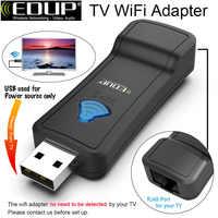 Repetidor WIFI inalámbrico USB de 300Mbps EDUP, amplificador de señal Wi-Fi de 2,4 GHz, extensor de rango con puerto Lan para Smart TV/player/TV Box