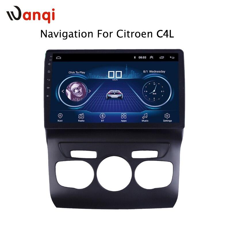 Voiture Radio Pour Citroen C4L 2013-2017 Android 8.1 HD 10.1 pouce Tactile Unité de Tête de l'écran GPS Navigation Multimédia lecteur