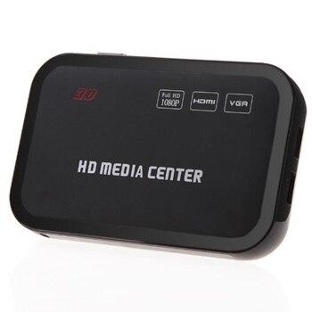 Reproductor multimedia Full HD, 1080P, Centro RM/RMVB/AVI/MPEG, reproductor multimedia de vídeo con HDMI YPbPr VGA AV USB SD/MMC, puerto remoto