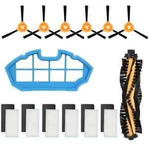 Zestaw akcesoriów dla Deebot N79S N79 odkurzacz automatyczny-1 szczotka główna 6 filtry 6 szczotki boczne to szczotka główna pasuje do Deebot N79