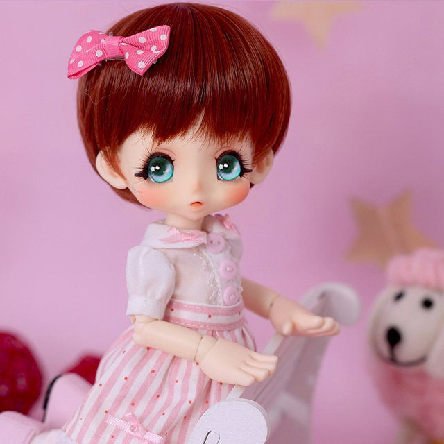 OUENEIFS bjd sd doll kinoko Juice Kiki 1/6 body model  baby girls dolls eyes High Quality toys shop  resin