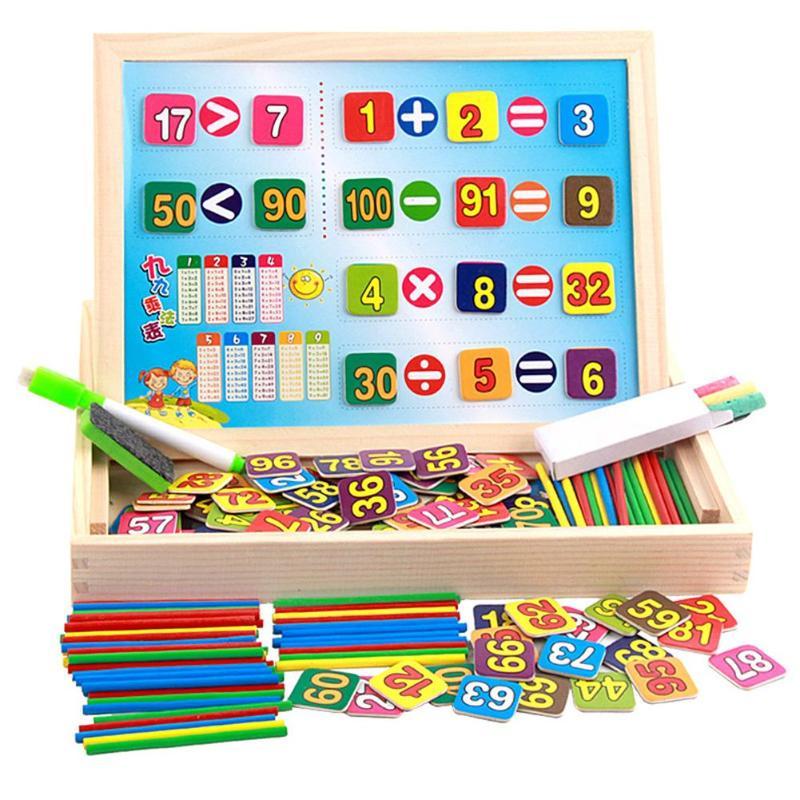 Kids Children Wooden Magnetic Math Teaching Learning ...