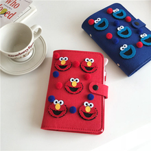 купить SIXONE Notebook Thickening Cartoon Sesame and Street Kawaii Big Eye Looseleaf Notebook Notepad Creative Gift Stationery Diary по цене 609.98 рублей