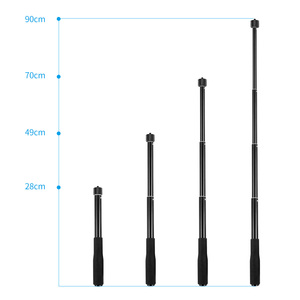 Image 3 - Aluminum Alloy Extension Selfie Stick Pole Rod with 1/4 Screw for Insta360 one X Camera for Gopro Xiaoyi EKEN Sport Camera