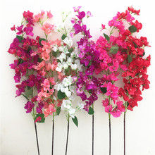 Artificial Bougainvillea Tree Long Stems 6 colors Silk bougainvillea spectabilis Flower Branches for Wedding Centerpieces