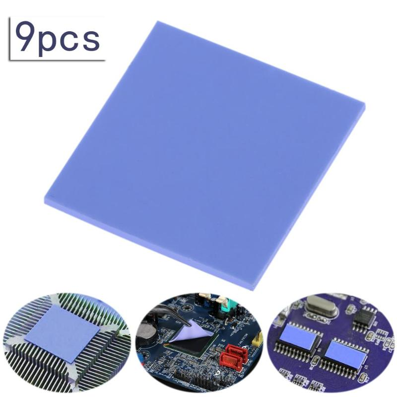 9pcs 30x30x2mm Thermal Pad GPU CPU Heatsink Cooling Conductive Silicone Pad For Motherboard/Computer/Laptop/DVD/VCD/LID/TV Box
