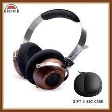 OKCSC M1 de madera HiFi auriculares DIY abierto voz estéreo auriculares audífonos 57mm conductor 3,5mm desmontable Retro-Vintage estilo