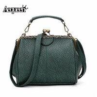 AEQUEEN Green роскошные женские винтажные сумки-ведро с застежкой женские Сумки из искусственной кожи через плечо женские сумки для свадебной ве...