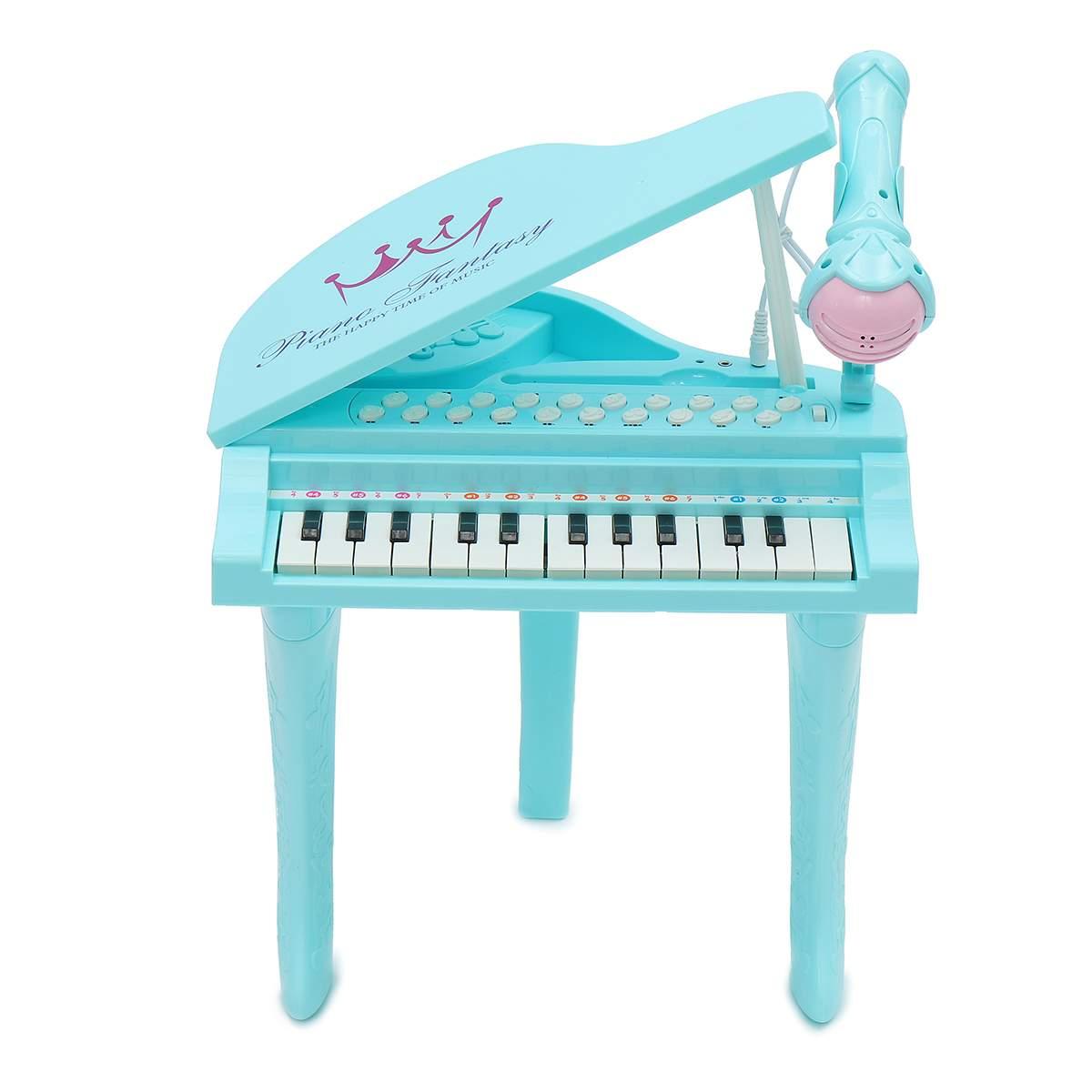 Électronique 25 touches clavier jouet orgue USB enfants Piano Microphone Instrument de musique jouant jouet ensemble rose/bleu enfants cadeaux - 5